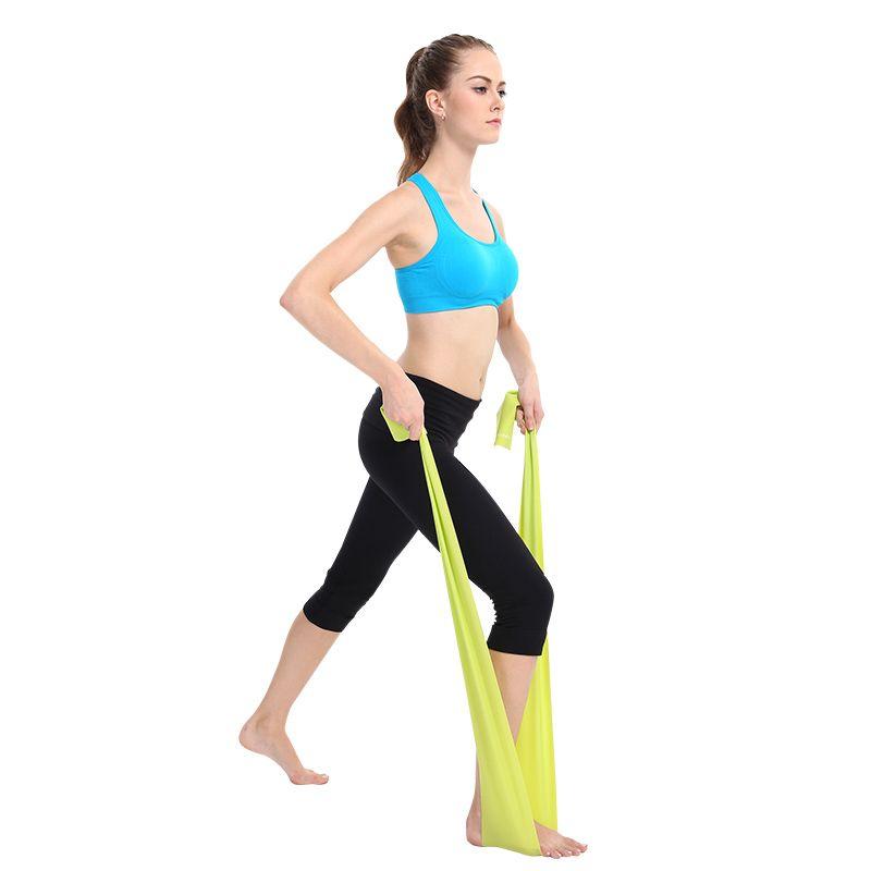 Sport Yoga Stretch Strap Elastic Belt Lacing Gym Waist Leg Fitness Training New