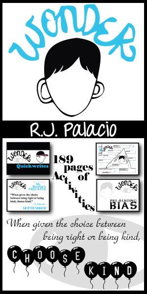 wonder unit - anti-bullying novel study bundle  palacio