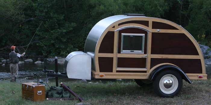 Wood Teardrop Camper