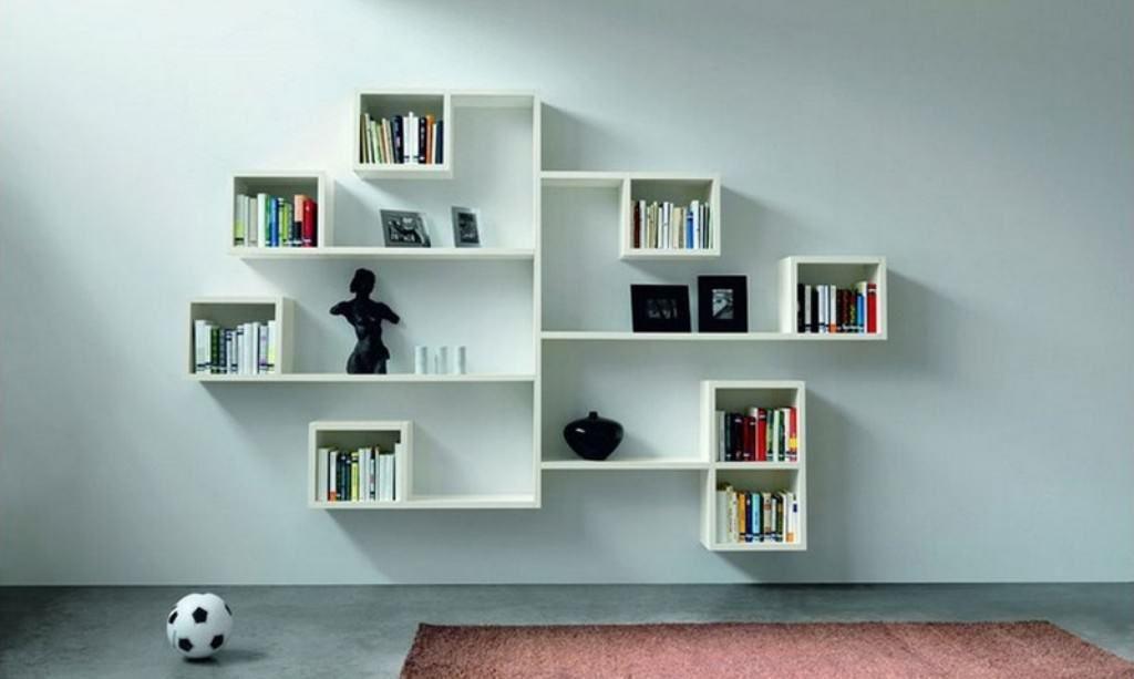White Cube Wall Shelves Minimalist Bookshelves Wall Shelves