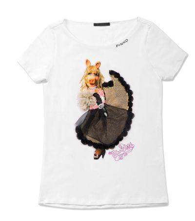 Le t-shirt Pinko con Miss Piggy dei Muppet [FOTO] | PourFemme