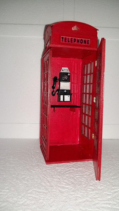Cabine Tlphonique Anglaise   Objets En Miniature