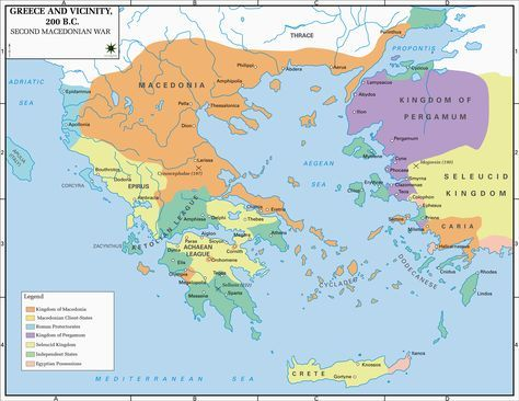 Ancient Greece Map Macedonia.Map Of Greece And Vicinity 200 Bc Fantasy Maps Pinterest Map