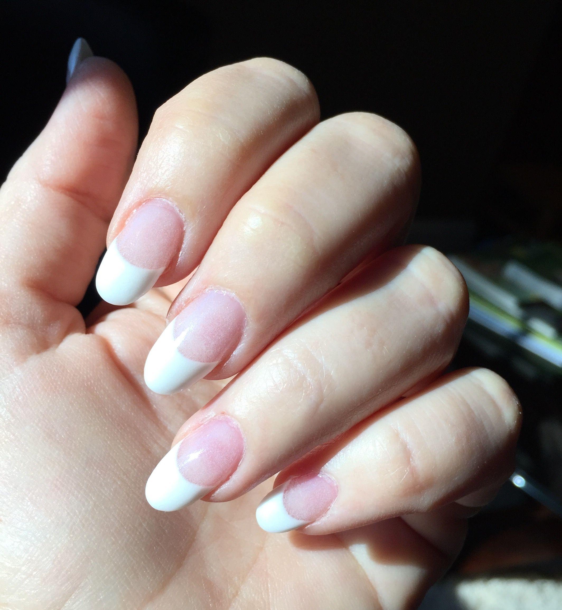 Angela\'s June SNS pink and white nails, light natural pink   Nails ...