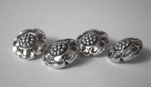 Four Art Nouveau Buttons by Important Danish Silversmith Evald Nielsen C 1920 | eBay