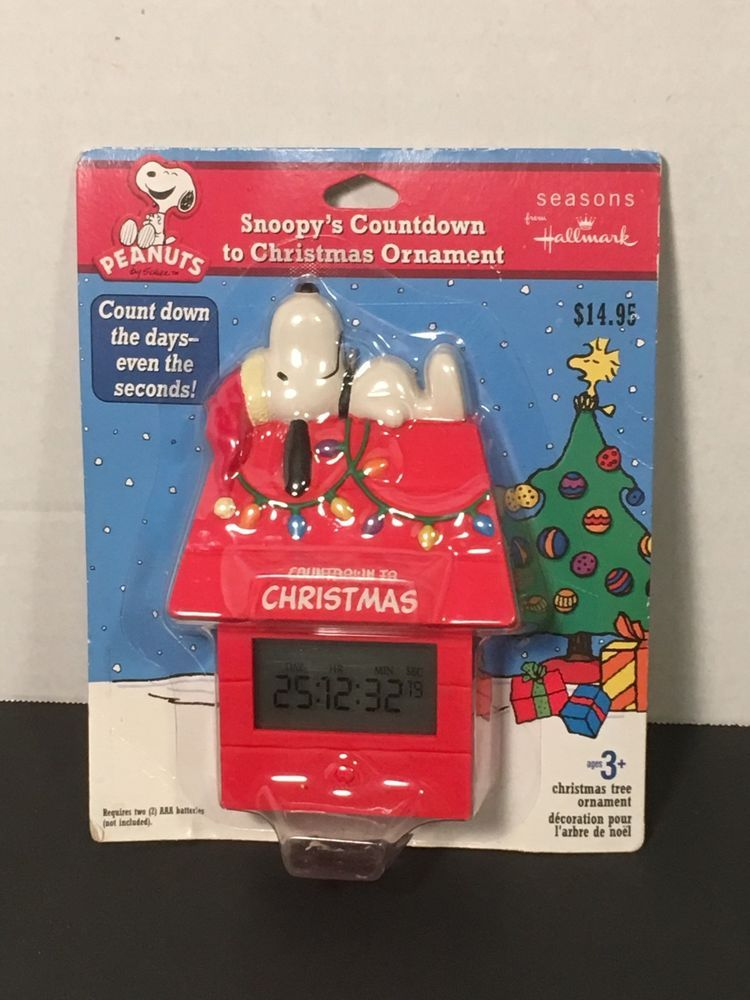 Peanuts Snoopy Not Outdoor Countdown To Christmas Clock Sign Tree Ornament