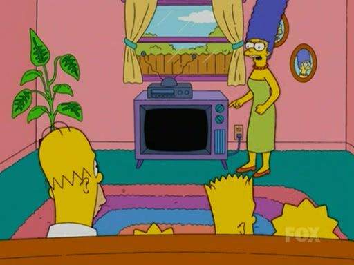 Pin By Jonathan Flynn On Simpsons Living Room The Simpsons Cartoon