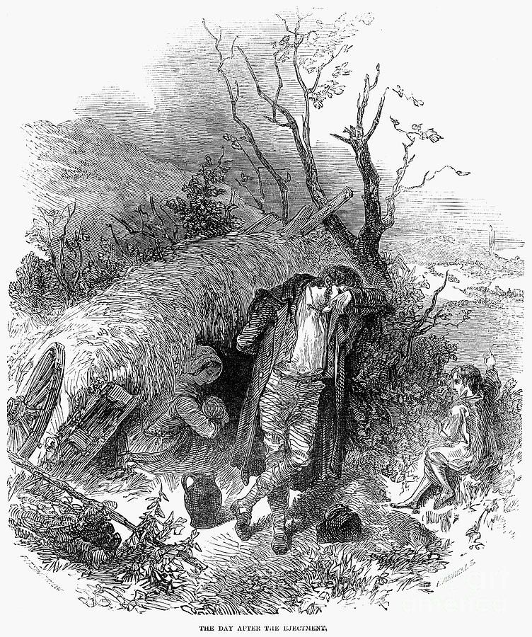 """IRISH POTATO FAMINE, 18467 """"The Day After the Ejectment"""