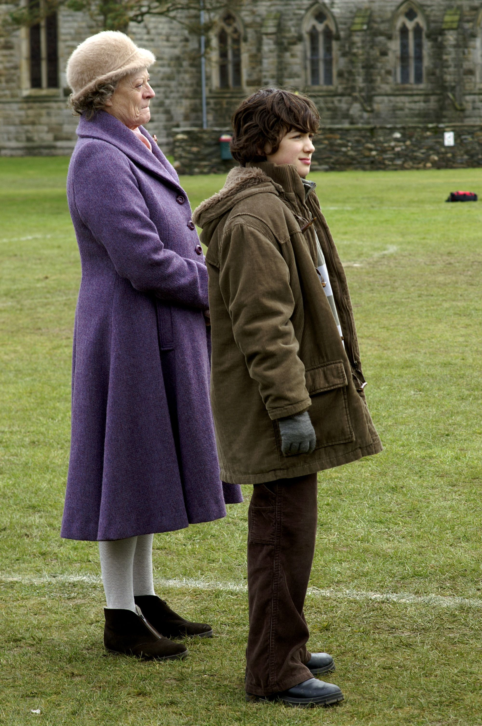 Maggie Smith and  Toby Parkes in keeping mum
