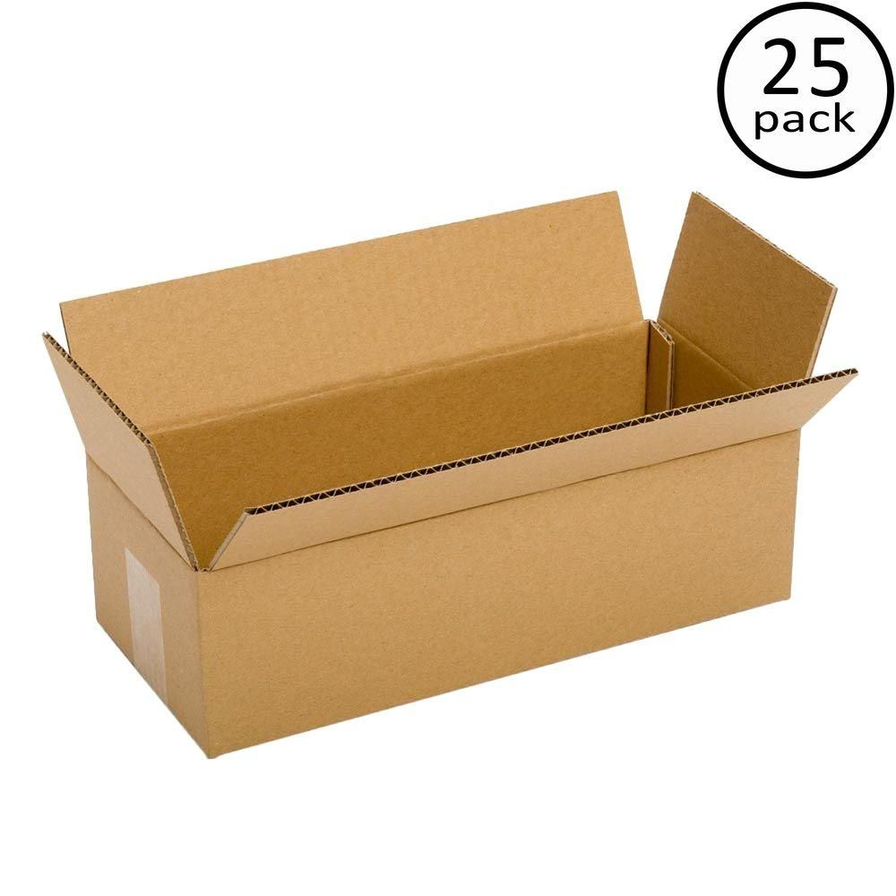 Pratt Retail Specialties 12 In L X 4 In W X 4 In D Box 25 Pack Pra0043 The Home Depot Corrugated Cardboard Cardboard Recycling Corrugated Packaging