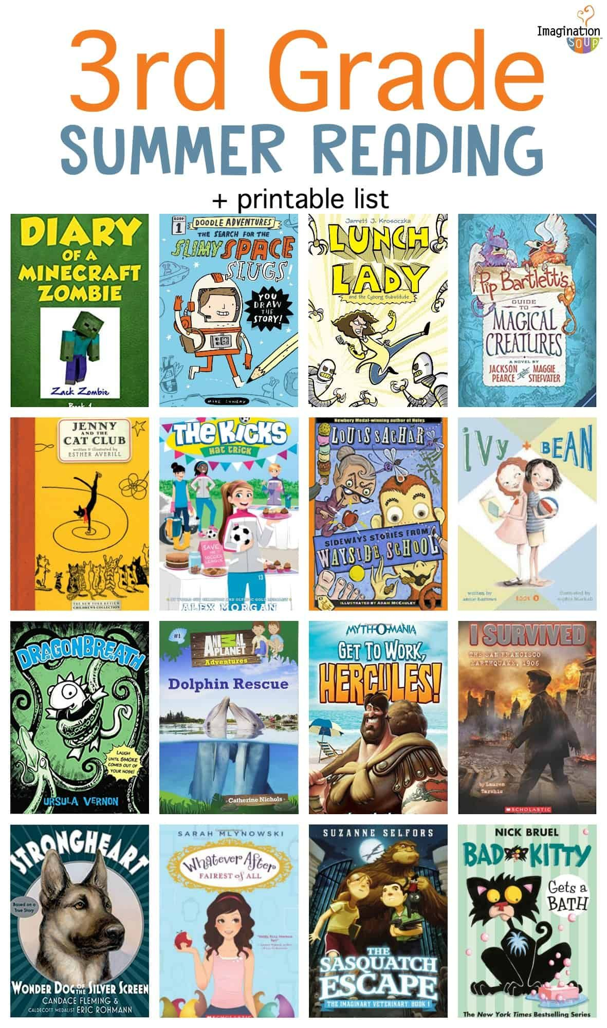 3rd Grade Summer Reading List Ages 8 9