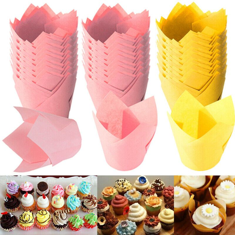 Details About Tulip Baking Cups Liner Paper Cupcake Wrapper Liner Muffin Paper Cup In 2020 With Images Muffin Paper Cups Cupcake Wrappers Baking Cups