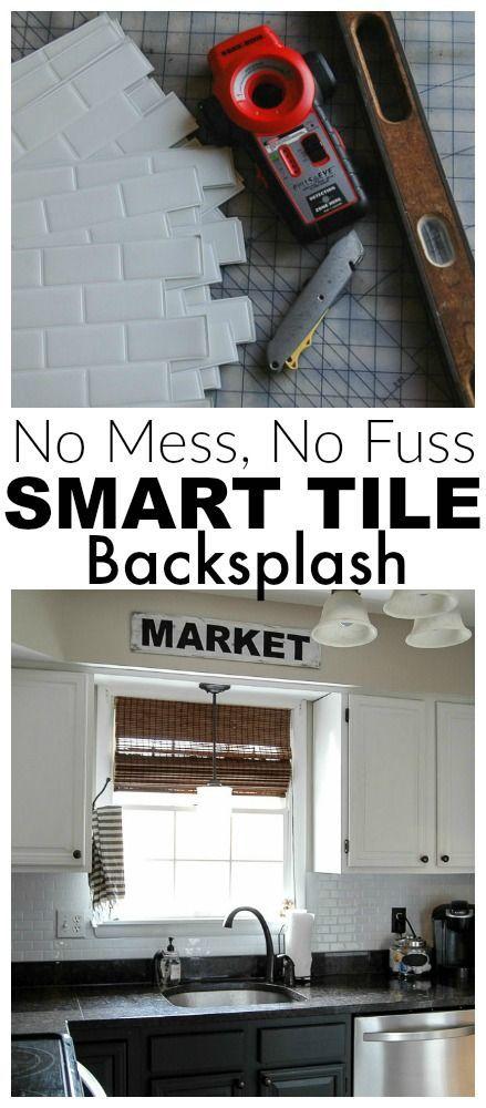 Kitchen Update!} Smart Tile Backsplash | Cocinas, Interiores y Cosas
