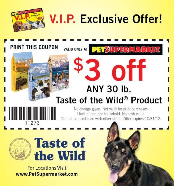 photograph about Pet Supermarket Coupons Printable named Pet dog Grocery store: $3 off Flavor of the Wild Printable Coupon