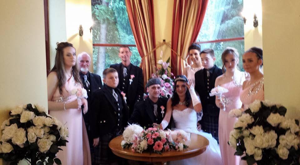 My stepson & daughterinlaw, my three daughters were bridesmaids, the best maid the bestman & groomsmen 24.9.16