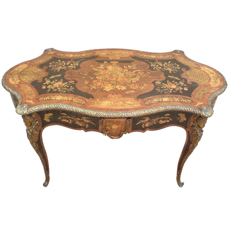 Antique French Library Table