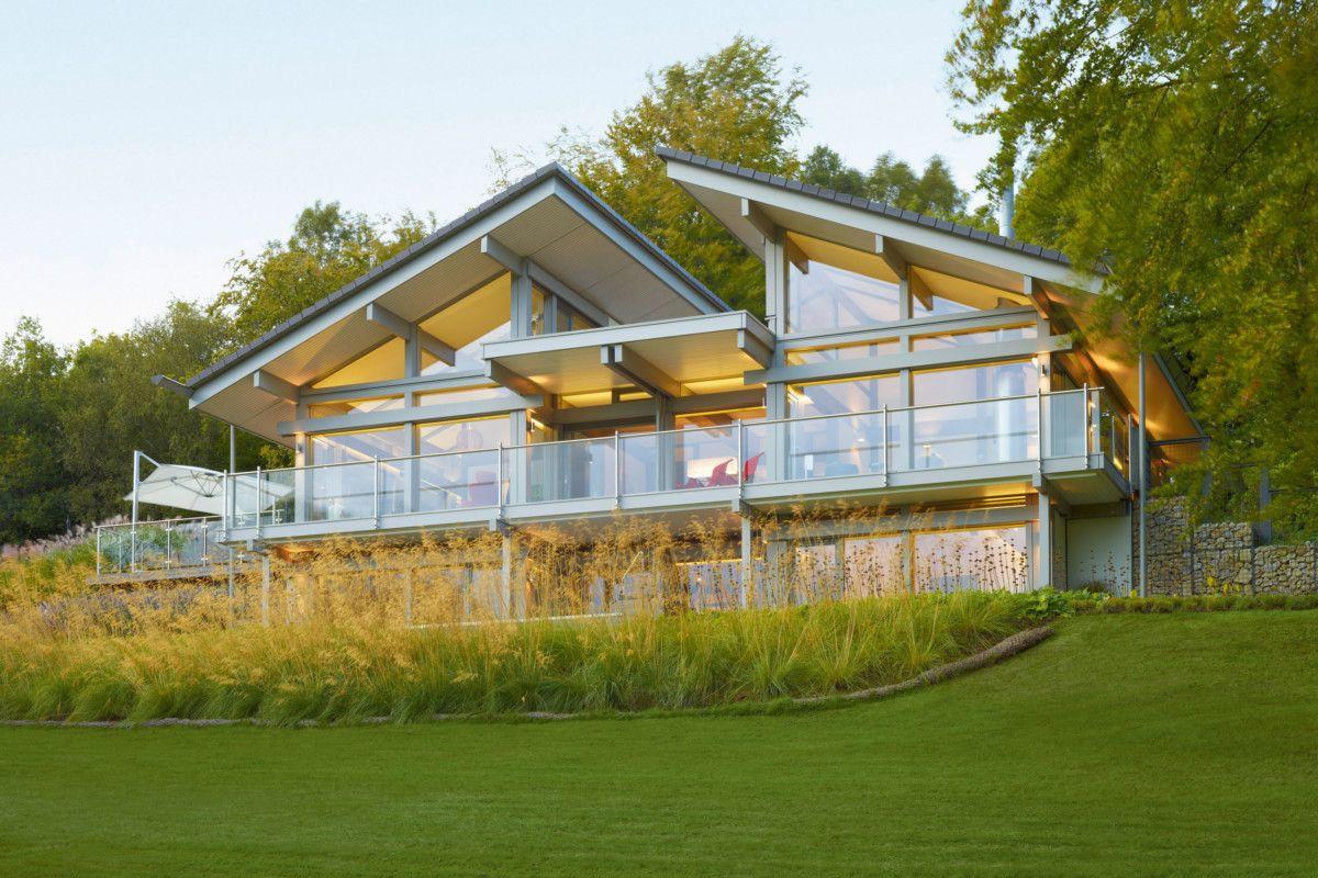 Fachwerkhaus Bungalow Mit Pultdach Huf Haus Art Sonder Fertighaus Bauen Als Holzhaus