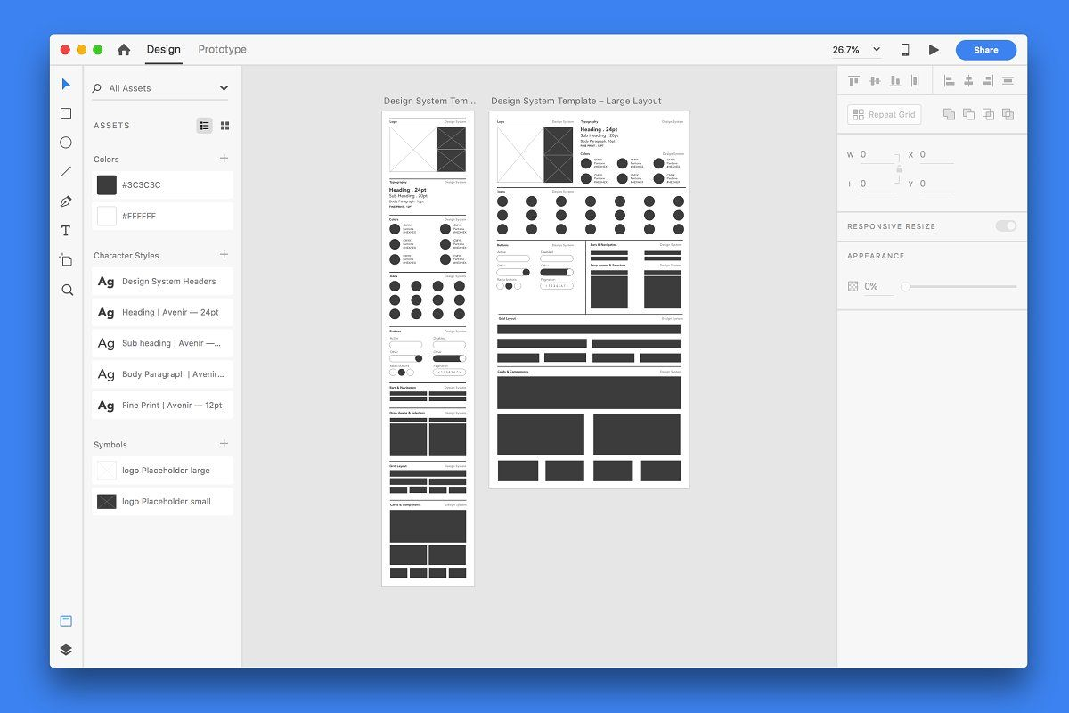 Design System Template Adobe Xd Design System Templates Adobe Xd