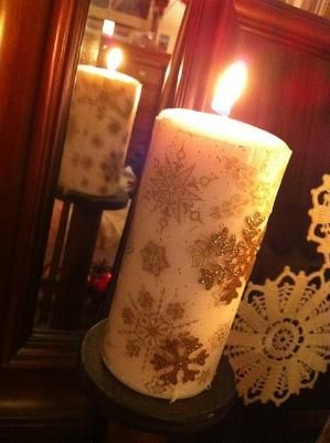 DIY christmas candle by erica