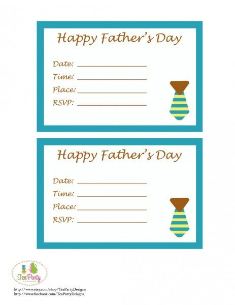 Free Father S Day Printables From Tea Party Designs Fathers Day Dad Day Fathers Day Date