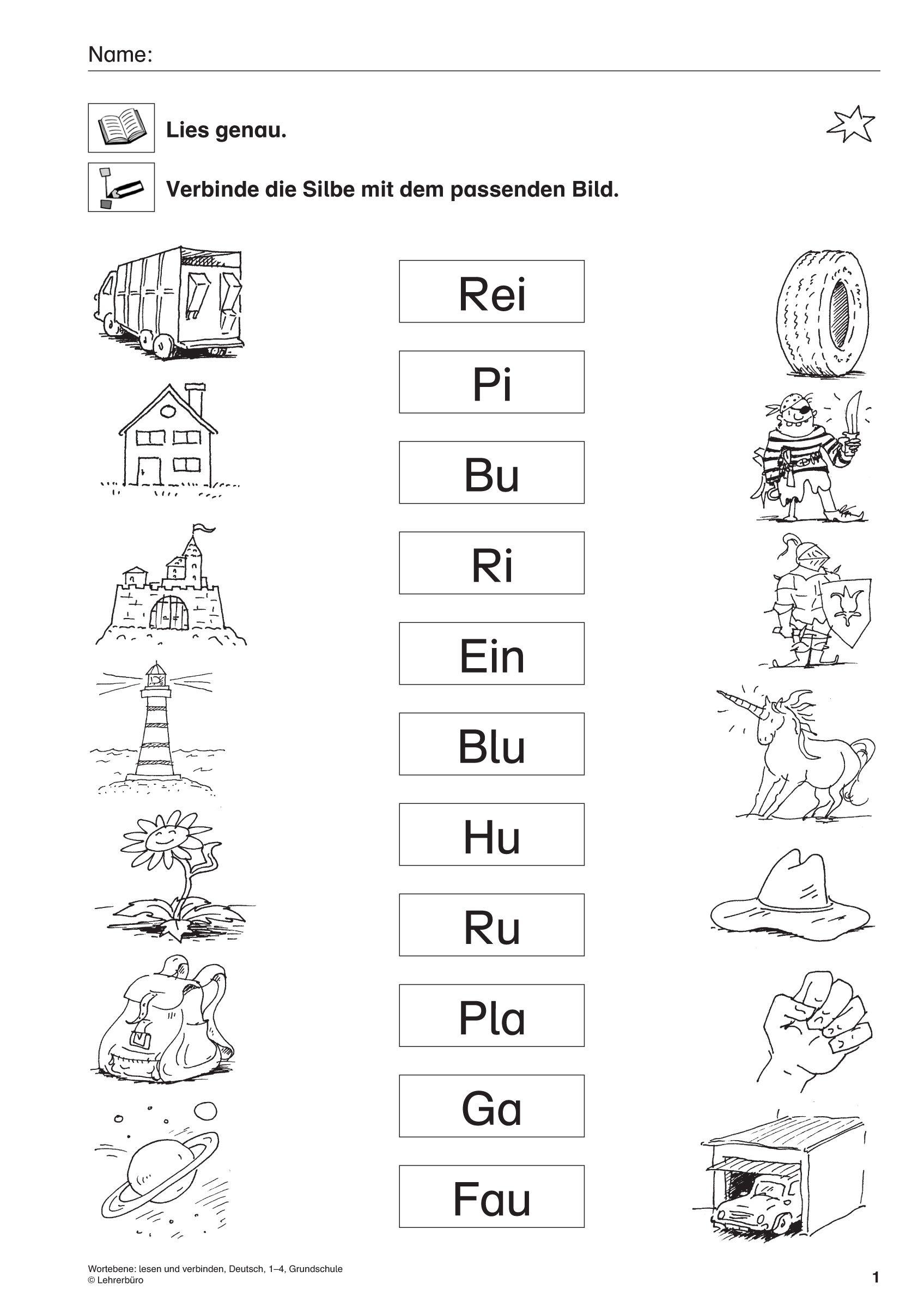 27 Arbeitsblatter 1 Klasse Volksschule Deutsch