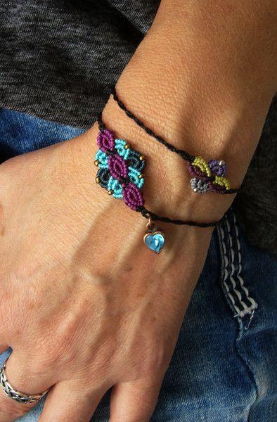 Armbänder - * Armbändchen Makramée * - ein Designerstück von crochet bei DaWanda
