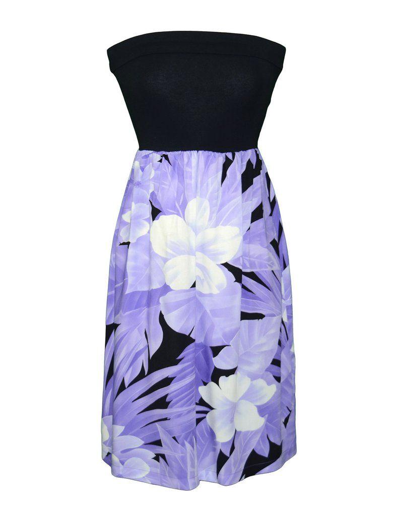 Hibiscus Wish Short Knit Top Strapless Dres #RJ-W158O-DA | Woman\'s ...