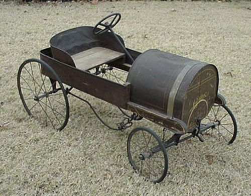 This is a very early Gendron Cadillac pedal car with wooden frame ...