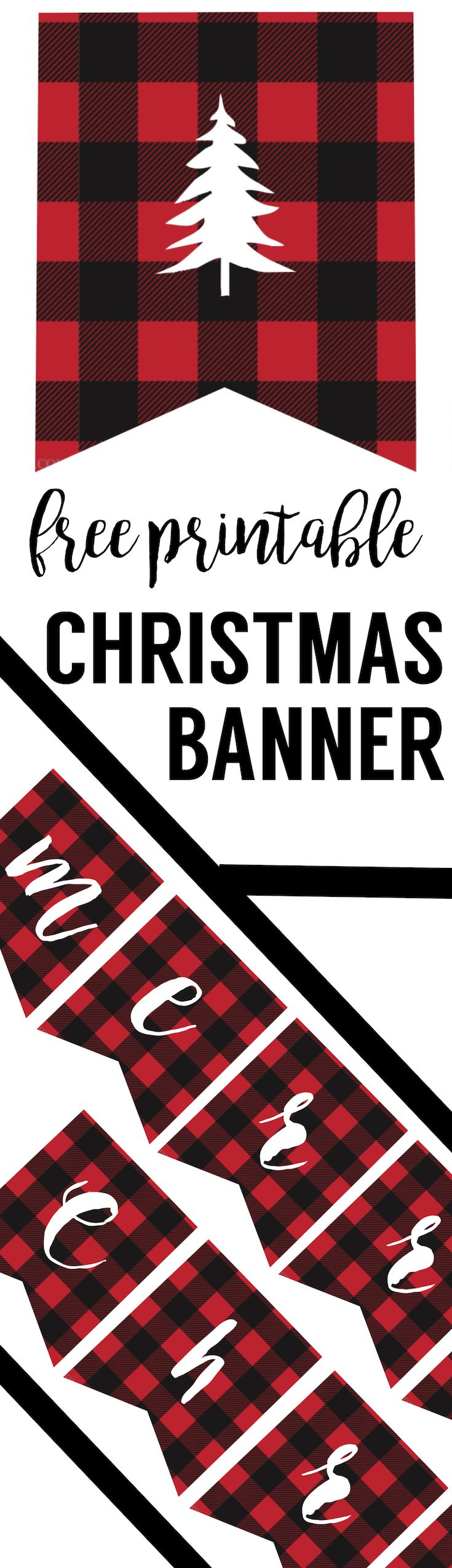Free Printable Merry Christmas Banner | Pinterest | Navidad y Cosas