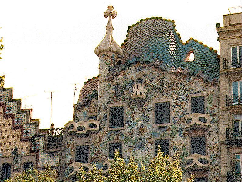 gaudi paper mosaic buildings google search