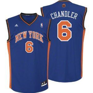 NBA Adidas New York Knicks Tyson Chandler Revolution 30 Youth Blue Jersey  Large (Size 14 5f8d50116