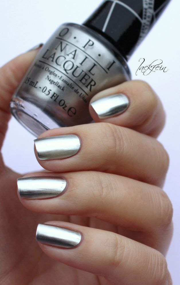 OPI Metallic Chrome Nails (lackfein)   Decoración de uñas, Diseños ...