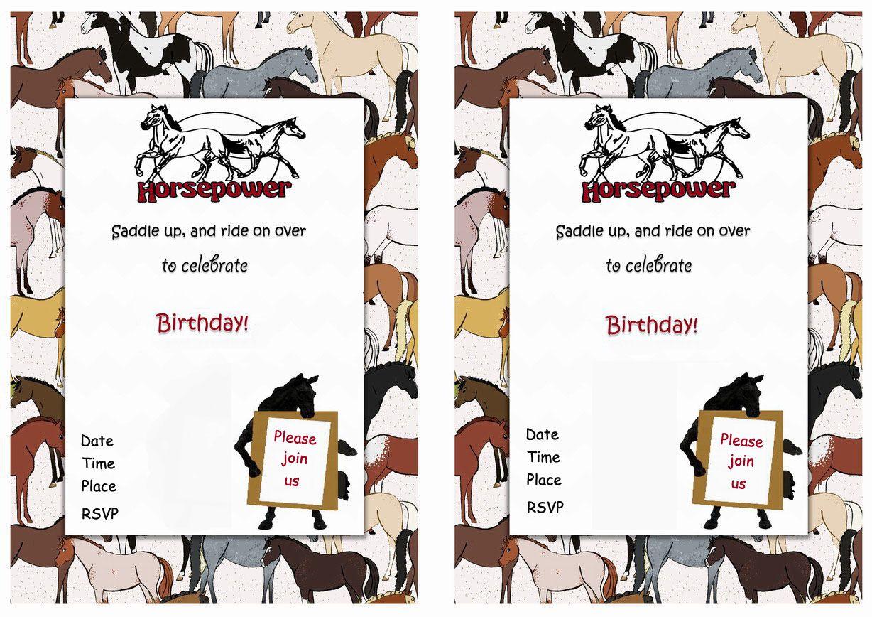 Horse FREE Printable Birthday Party Invitations | Invitaciones ...