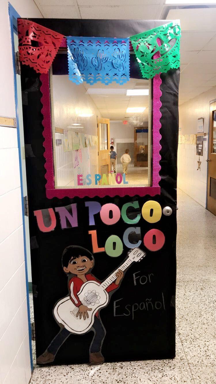 Disney Coco classroom door
