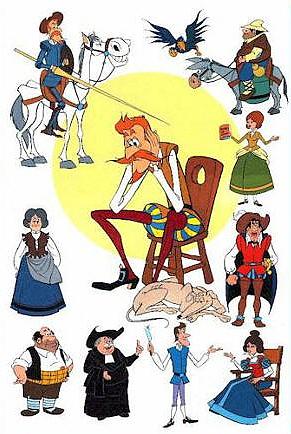 Cervantes Y Don Quijote De La Mancha Don Quijote Dibujo Personajes Del Quijote Don Quijote