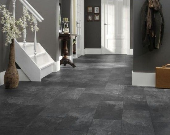 Dark Tile Flooring Classy Image Result For Dark Gray Floors  Concrete Floors  Pinterest Decorating Design