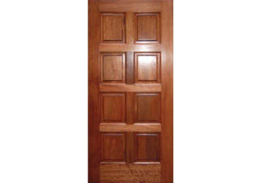 Exma800 Cmip Impact Mahogany 8 Panel 1 3 4 Barn Style Sliding Doors Eto Doors Mahogany Wood Doors