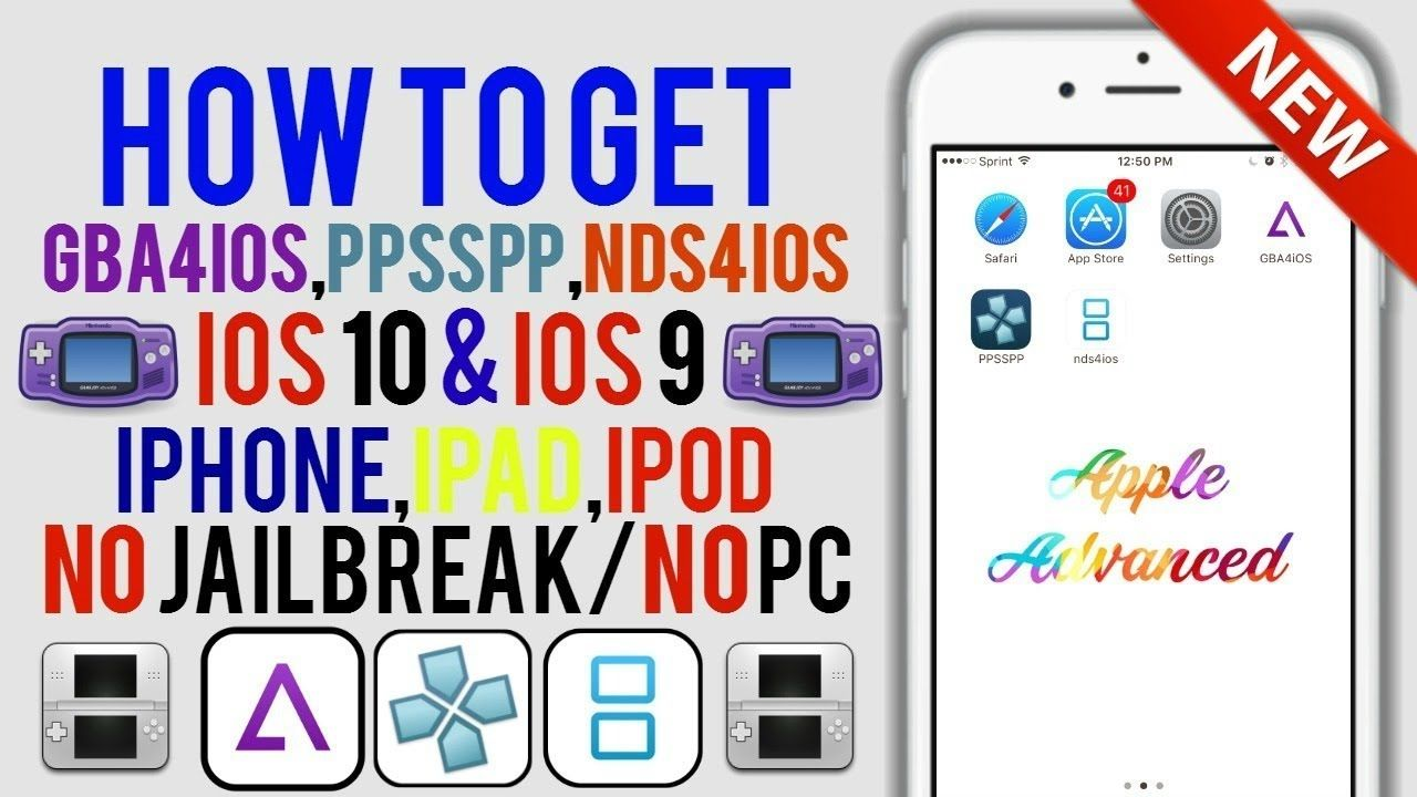 NEW Install GBA4iOS, NDS4iOS & PSP FREE iOS 9 / 10 - 10 3 2 NO