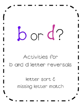 b and d letter reversal activities teaching kindergarten writing kindergarten literacy. Black Bedroom Furniture Sets. Home Design Ideas