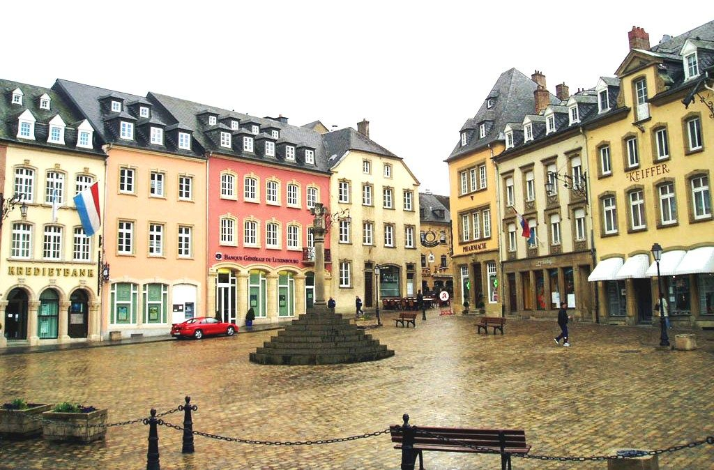 In Echternach, Luxembourg - I love Echternach.  Such a sweet, welcoming little town.