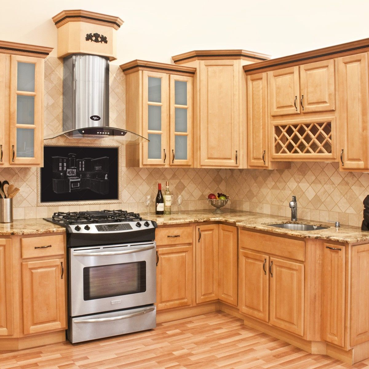 Lesscare Richmond 10x10 Kitchen Cabinets Group Sale Maple Kitchen Cabinets Kitchen Remodel Small Kitchen Renovation