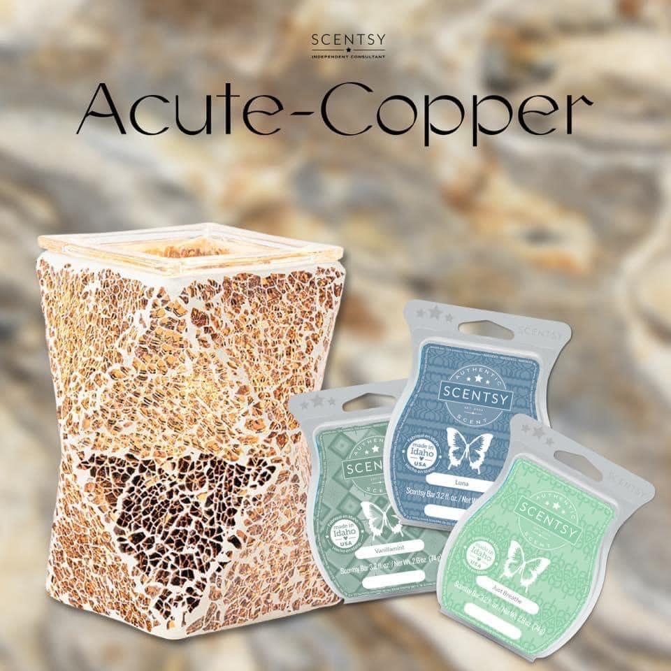 Acute copper warmer scentsy wax warmer scentsy