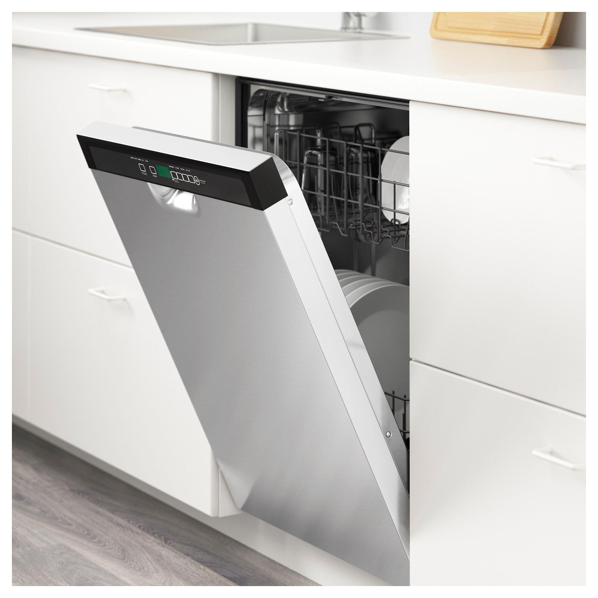 Renlig Built In Dishwasher Stainless Steel Lave Vaisselle Encastrable Lave Vaisselle Rangement Interieur