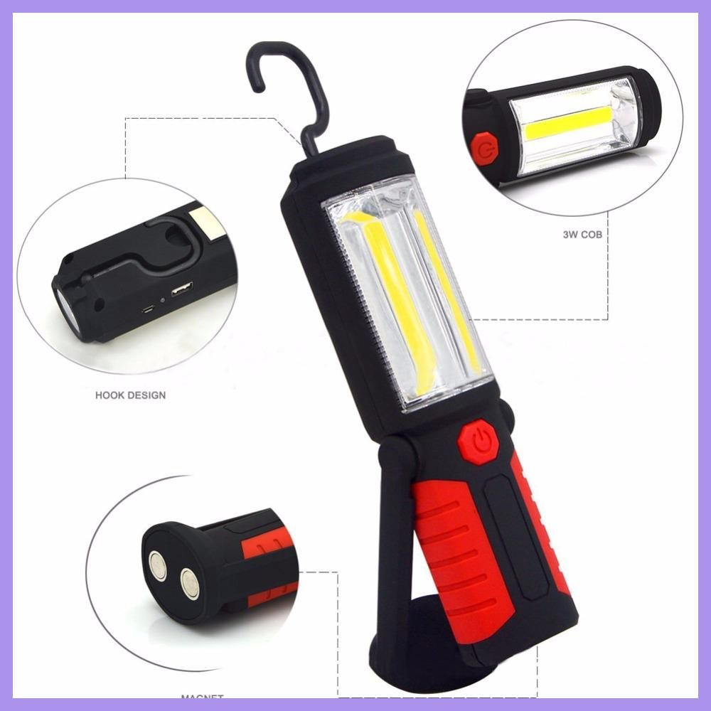 Powerful Portable 3000 Lumens Cob Led Flashlight Magnetic