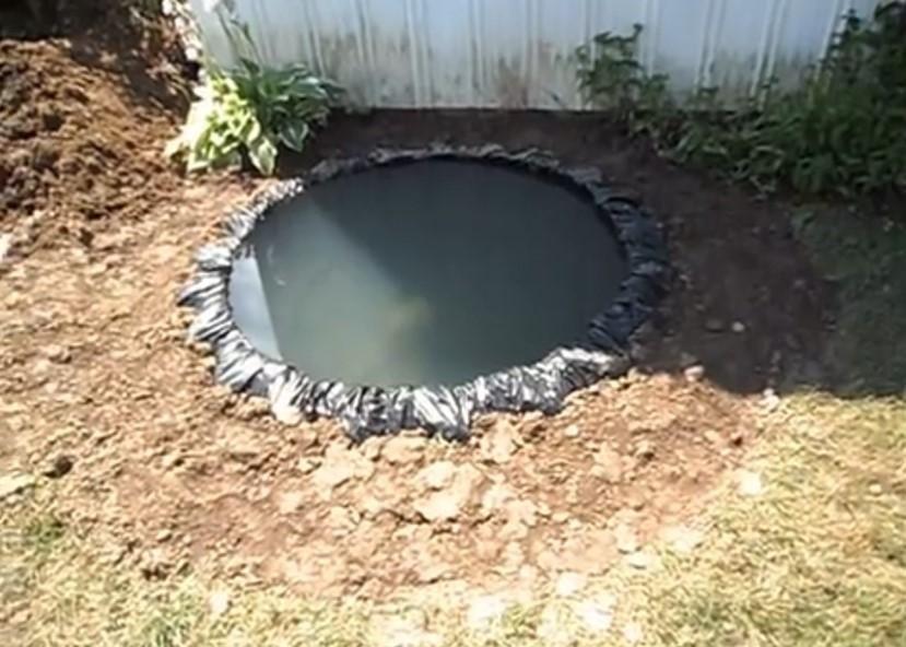 Haz tu propio estanque en el jard n gracia a una llanta - Estanques para tortugas de agua ...