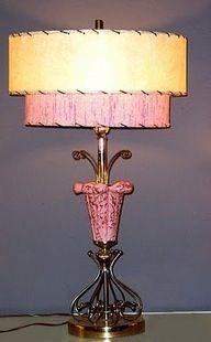 Vintage pink atomic lamp | Lampor, Ljus