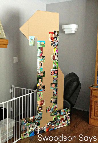 DIY creative photo collage for birthday party #firstbirthdaygirl