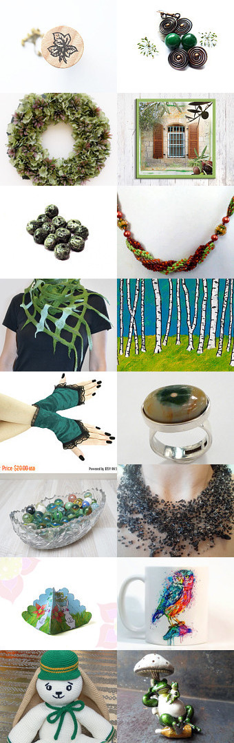 The green Monday  by Ana Martín on Etsy--Pinned+with+TreasuryPin.com