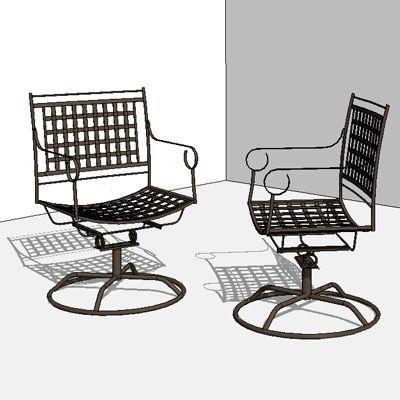 Sensational Wrought Iron Swivel Rocker Revit Furniture Andrewgaddart Wooden Chair Designs For Living Room Andrewgaddartcom
