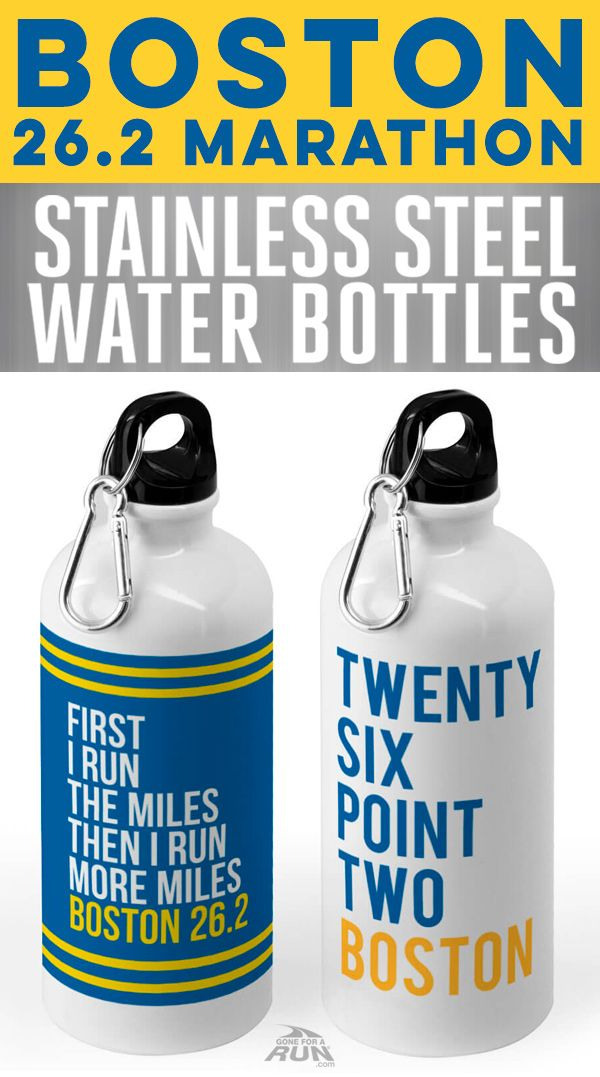 Stay hydrated and inspired when you train for the Boston Marathon with our stainless steel water bottles for runners.